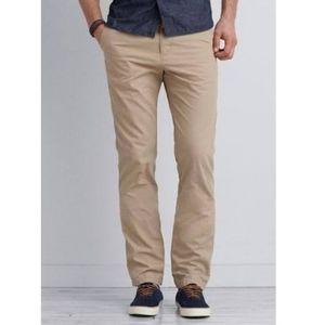 American Eagle Slim Straight Khaki Pants 30x34